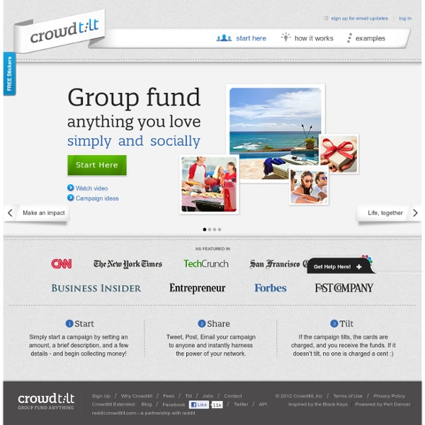 Crowdtilt.com - Group Fund Anything