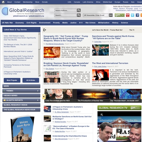 GlobalResearch.ca - Centre for Research on Globalization