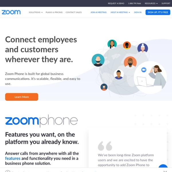 Zoom - Vidéoconférence, Conférence web, Webinaires, Partage d'écran