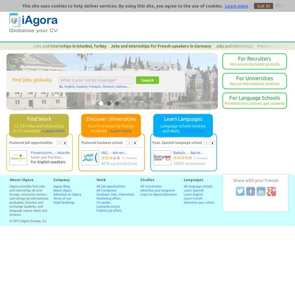 Globalise your CV - Work, Studies, Languages
