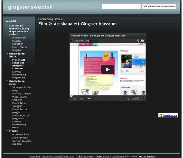 Film 2: Att skapa ett Glogster-klassrum - glogsterswedish