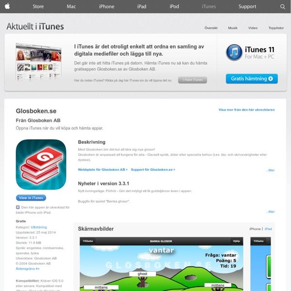 För iPhone, iPod touch och iPad i iTunes App Store