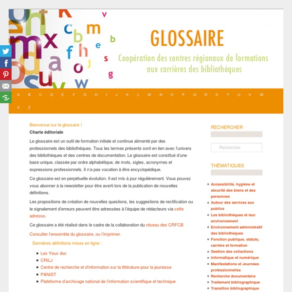 Glossaire CRFCB