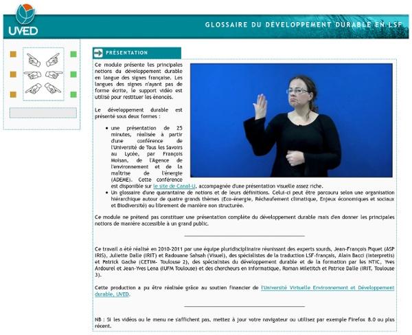 Glossaire du développement durable en LSF