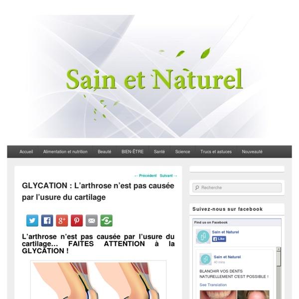GLYCATION : L'arthrose n'est pas causée par l'usure du cartilage