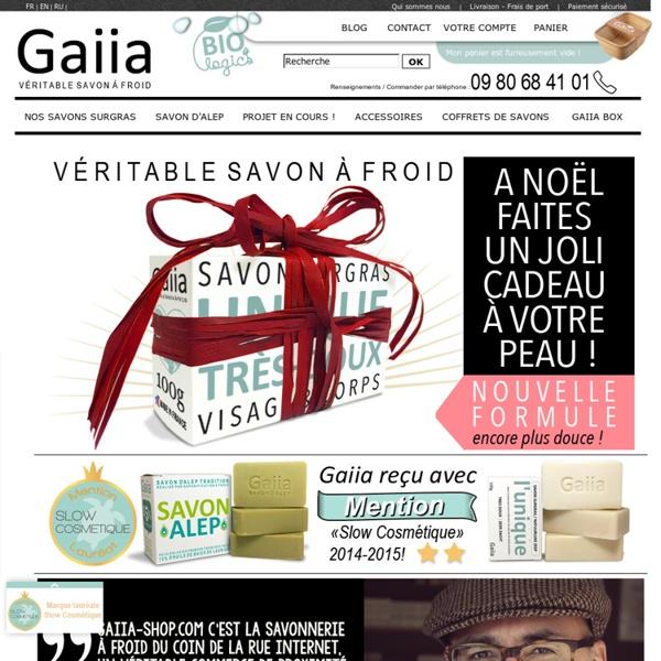 Savon naturel Gaiia, des savons surgras riches en glycérine naturelle par méthode de saponification a froid