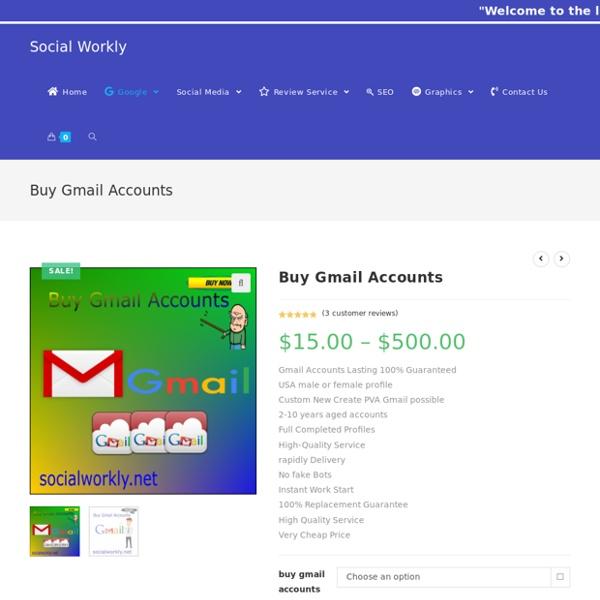 Buy Active Phone Verified Gmail Accounts