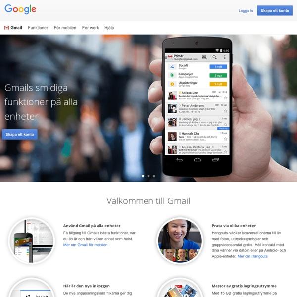 Gmail – gratis lagring och e-post från Google