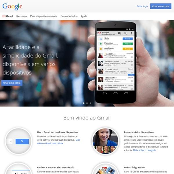 E-mail e armazenamento gratuitos do Google