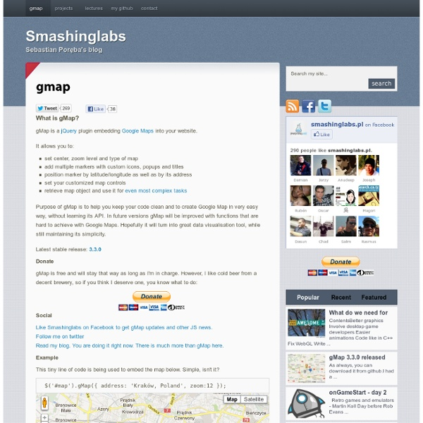 Gmap : Smashinglabs