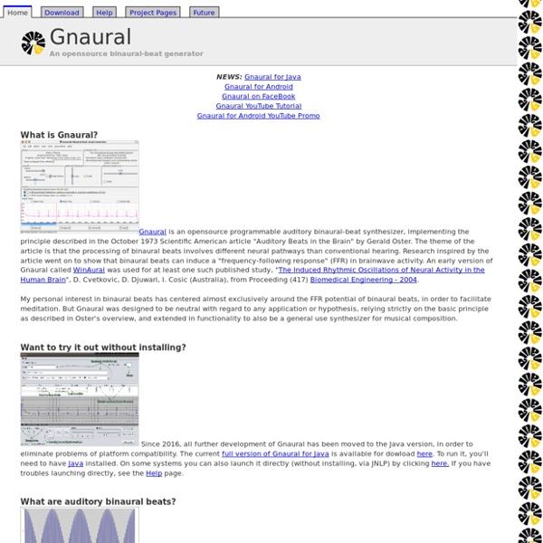 Gnaural: A Binaural-Beat Audio Generator   Pearltrees
