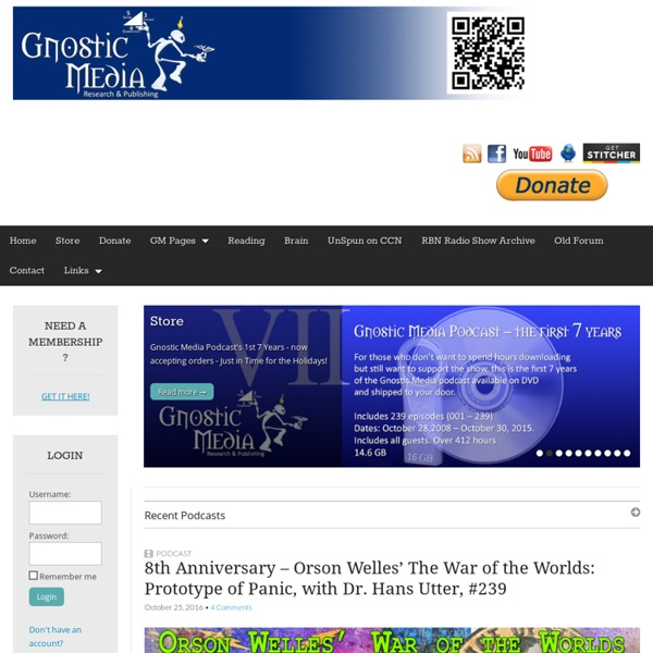 Gnostic Media - Research & Publishing with host Jan Irvin