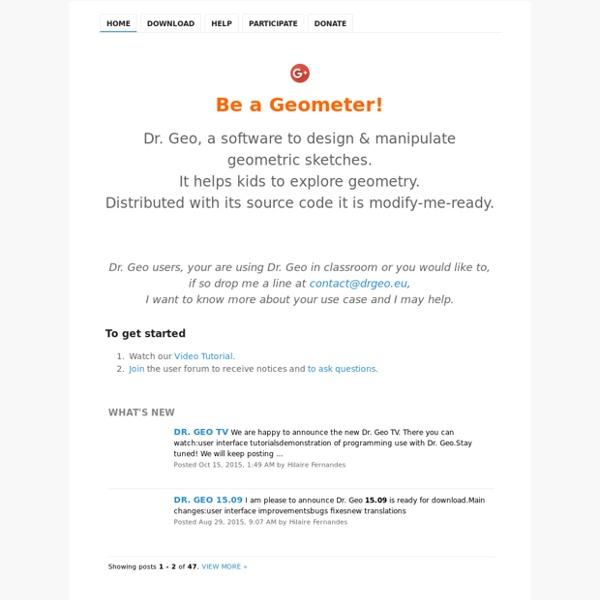 GNU Dr. Geo, be a geometer!