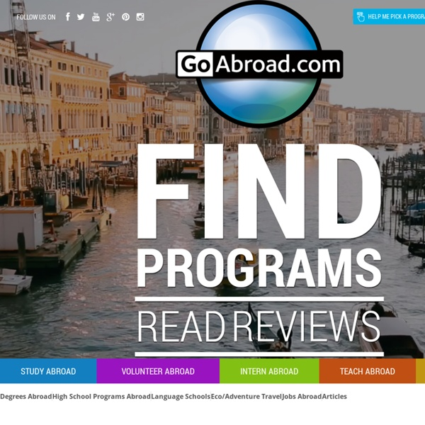 GoAbroad.com - Study, Volunteer, Teach & Internships abroad