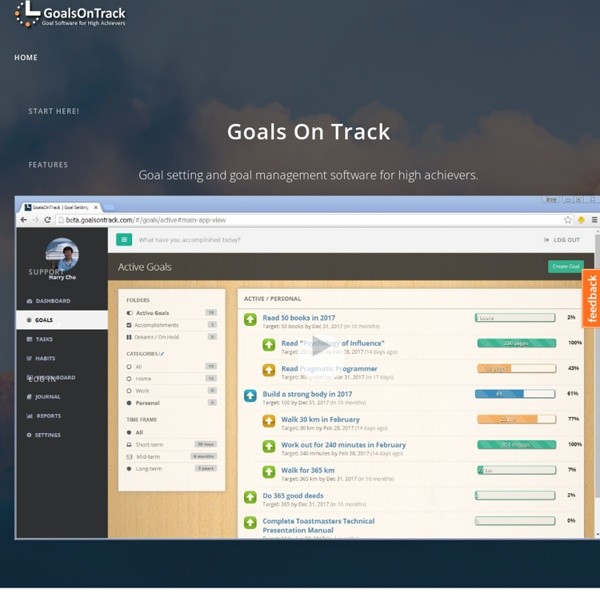 Goal Setting Software - GoalsOnTrack