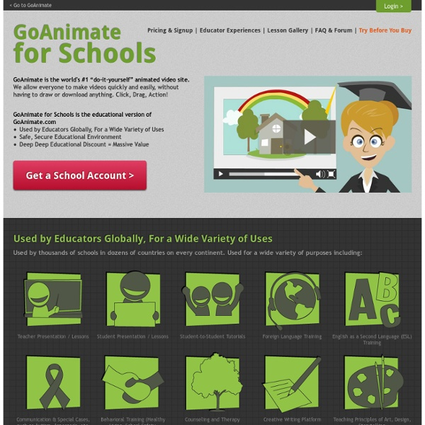 GoAnimate for Schools | Pearltrees