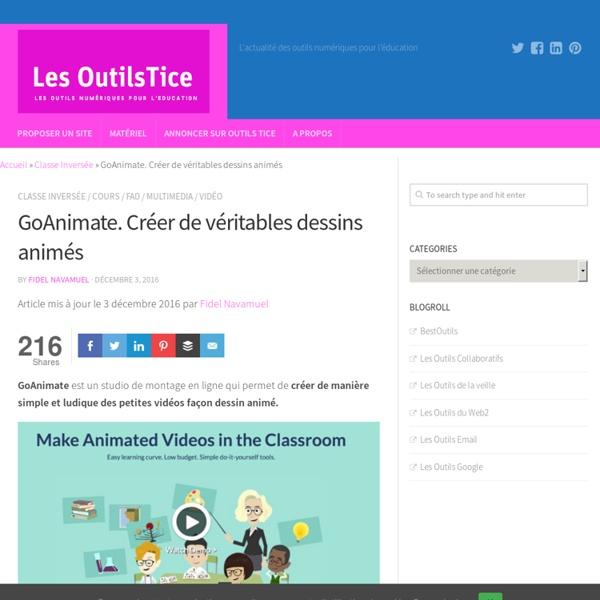 GoAnimate. Créer de véritables dessins animés – Les Outils Tice