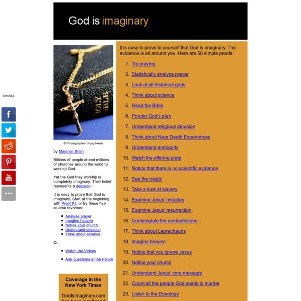God is Imaginary - 50 simple proofs
