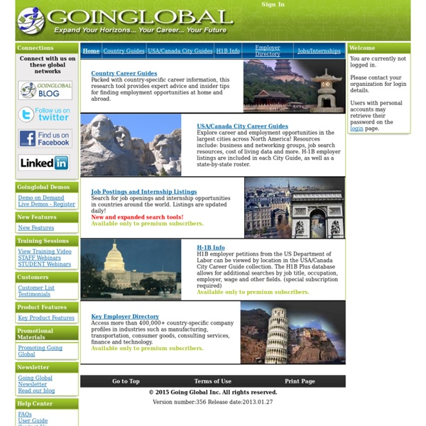 Going Global - Main Page