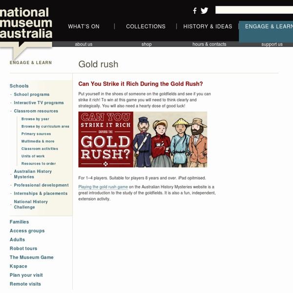 Gold rush – Flash interactive