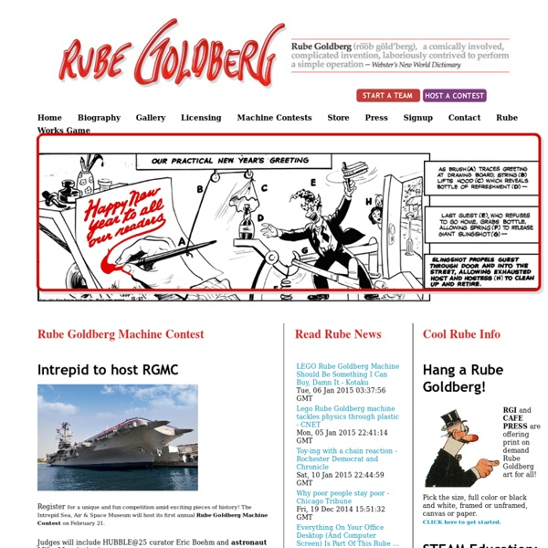 Rube Goldberg : Home of the Official Rube Goldberg Machine Contests