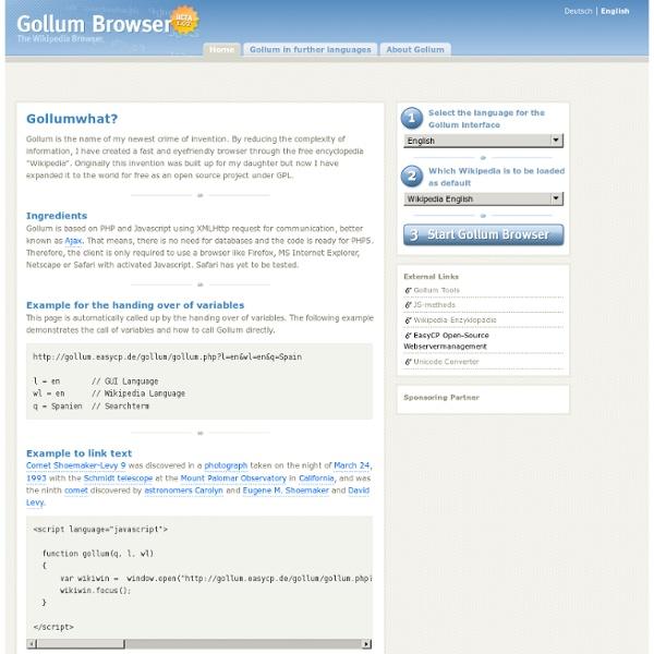 Gollum, the Wikipedia Browser