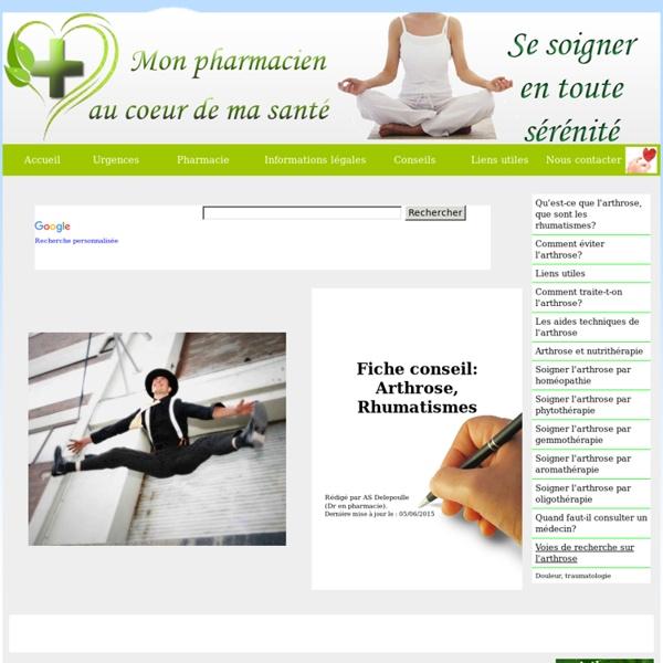 Arthrose, gonarthrose, douleurs rhumatismales