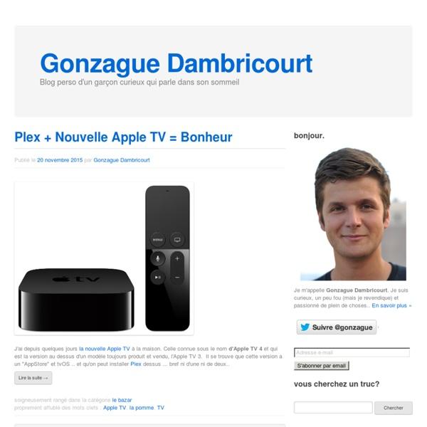Gonzague : le blog de Gonzague Dambricourt