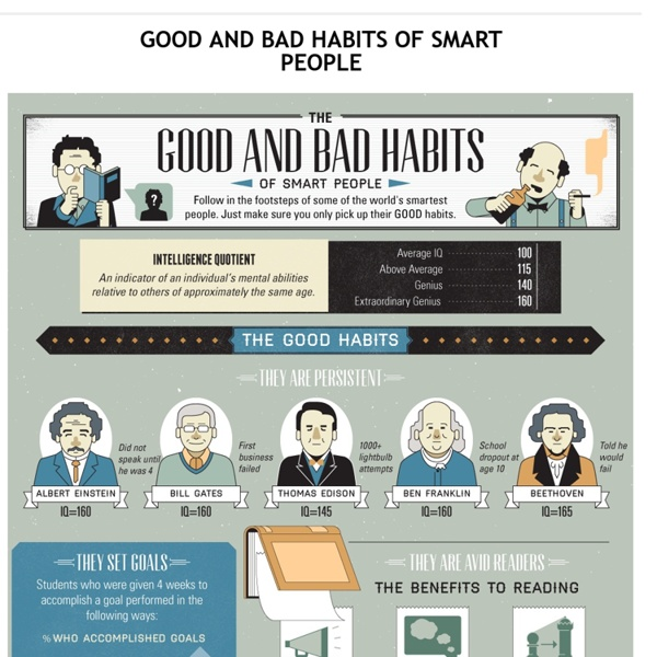 Good and Bad Habits of Smart People