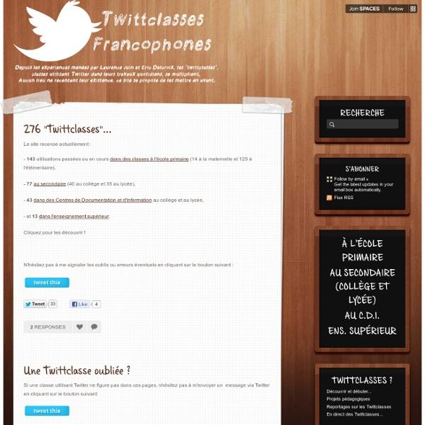 Twittclasses francophones - Home