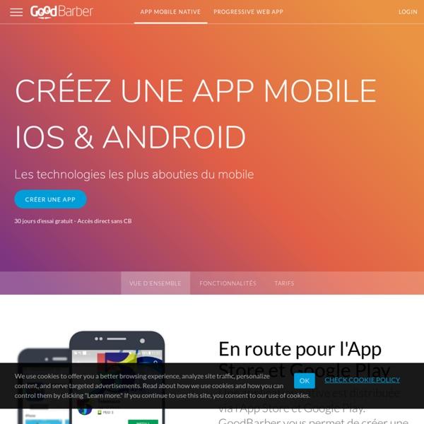 Créez une application pour iOS et Android