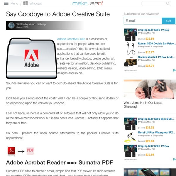 Say Goodbye to Adobe Creative Suite