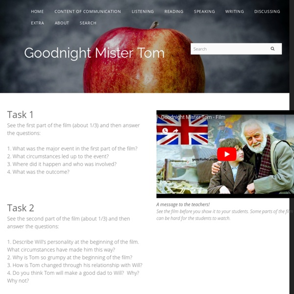 Goodnight Mister Tom - Kimstudies