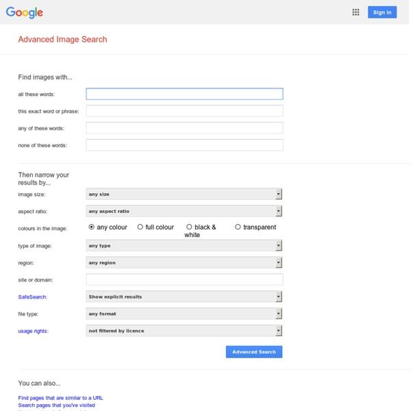 Recherche d'images avancée Google
