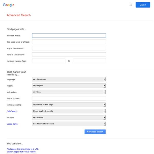 Búsqueda avanzada de Google