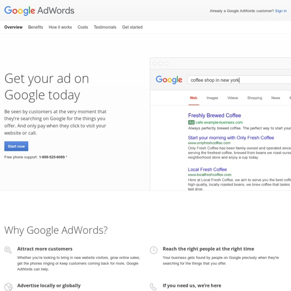 Google (PPC) Pay-Per-Click Online Advertising