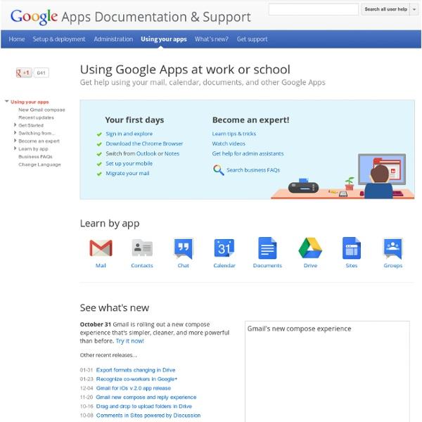 Google Apps Learning Center v4