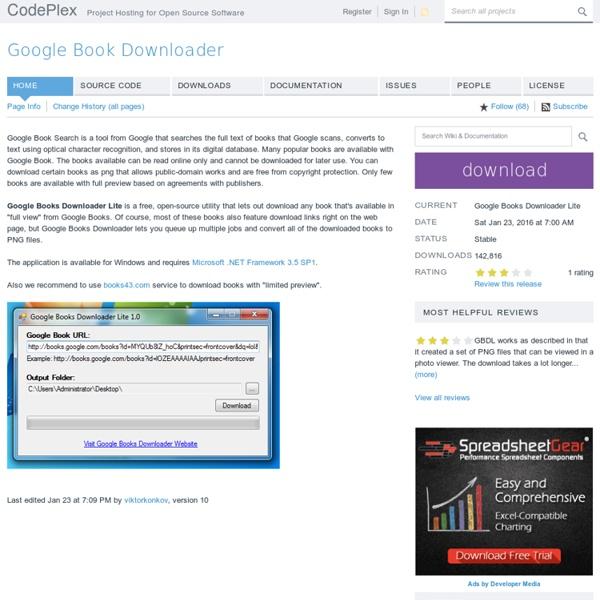 Google Book Downloader - Home
