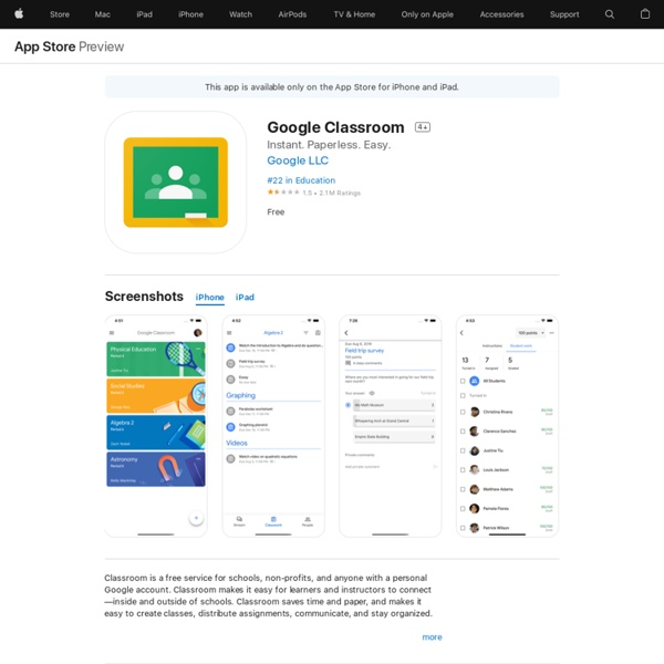 Google Classroom on the AppStore