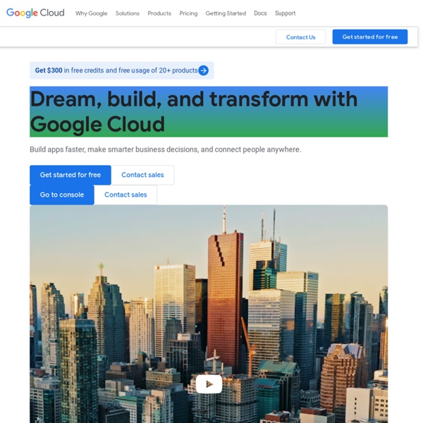 Google Cloud Computing, Hosting Services & APIs