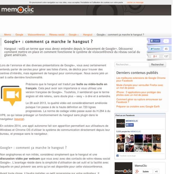 Google+ : comment ça marche le hangout ?