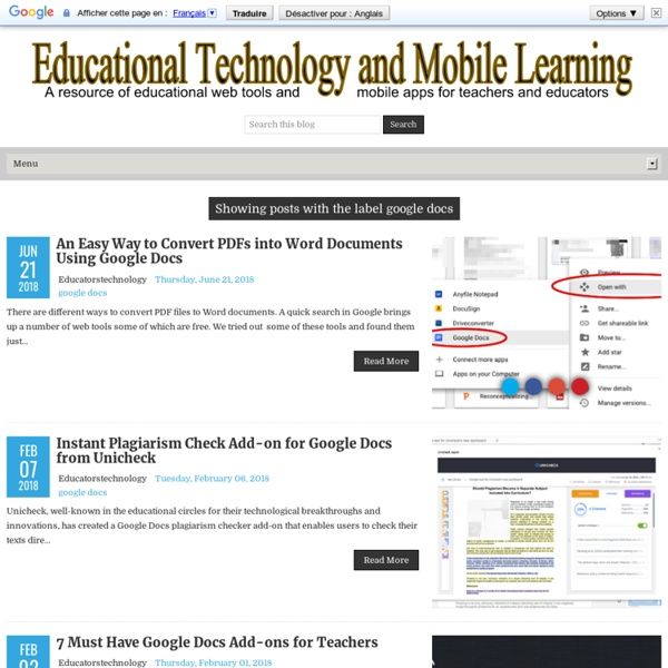 Educational Technology and Mobile Learning: google docs