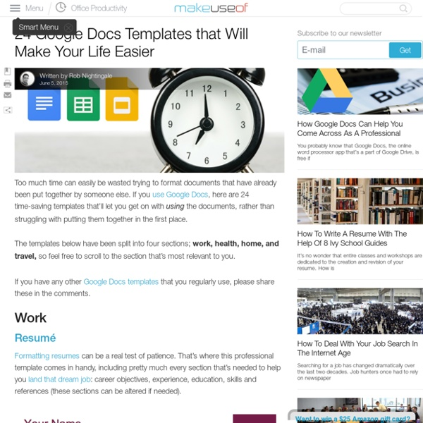 24 Google Docs Templates that Will Make Your Life Easier | Pearltrees