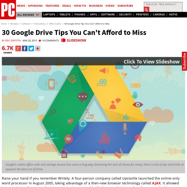 30 Google Drive Tips You Can't Afford to Miss