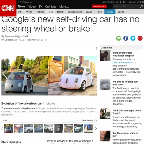 Google self-driving car has no steering wheel or brake