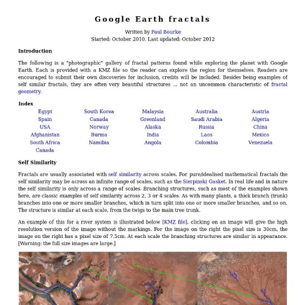 Fractales sur Google Earth