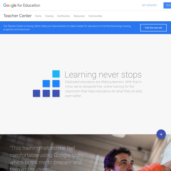 Google for Education: Teacher Center