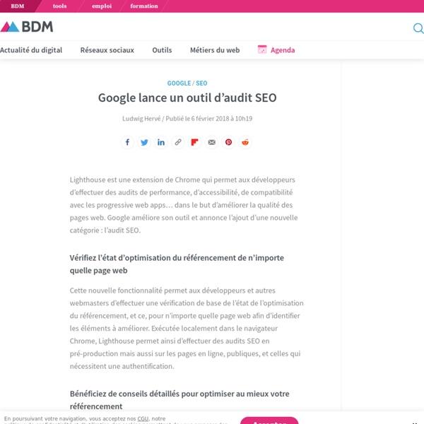 Google lance un outil d'audit SEO