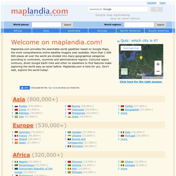 Google Maps World Gazetteer