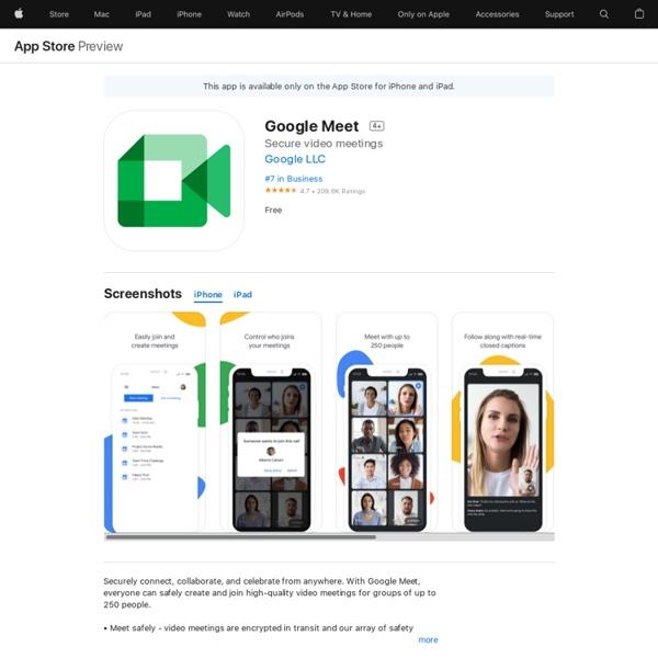 Google Meet on the AppStore